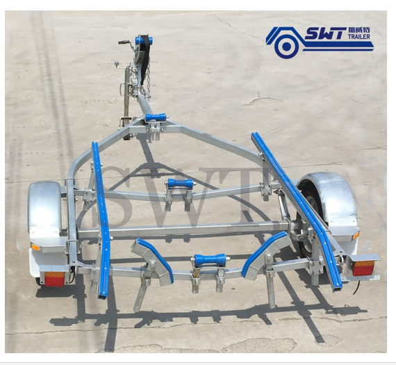 load hot dip galvanized boat trailer