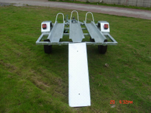 Hot dipped Galvanized Single axle Motorbike Trailer