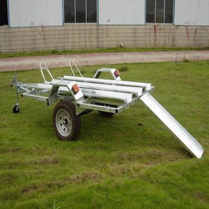 hot dip galvanized motorbike trailer for 3 bike